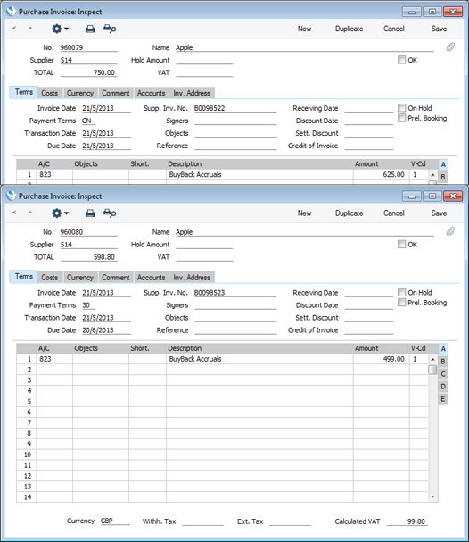 Blank Invoice Sheet Hansaworld  Integrated Erp And Crm Rental Bond Receipt Template Pdf with Invoice Solution The Function Will Also Update The Buyback Records With The Purchase Invoice  Numbers Of The Credit And Debit Notes And Mark Them As Invoiced Vintage Invoice Excel